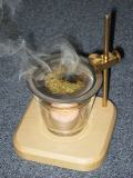 Herb burner burning position
